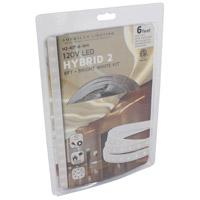 American Lighting H2-KIT-6-WH Hybrid 2 White 5000K 72 inch Tape Light Kit