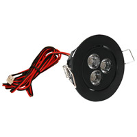 Mini Swivel LED 3 inch Black Puck Light