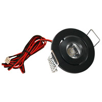 Mini Swivel LED 2 inch Black Puck Light