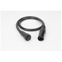 American Lighting RGB-H2-XLR3-PT Hybrid 2 RGB Collection Black Adaptor Cord