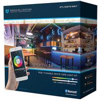 American Lighting SPTL-RGBTW-4MKIT Spektrum Smart Lighting Black Bluetooth Tape Kit
