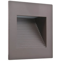 American Lighting SQ-1-DB Inner Square 120V 1 watt Dark Bronze Step Light