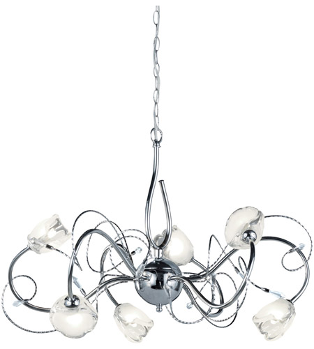 Arnsberg 113110606 Caprice 6 Light 26 inch Chrome Chandelier Ceiling Light photo