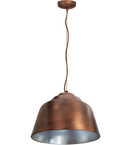 Arnsberg 376620309 Palermo 3 Light 16 inch Copper Plated and Silver Pendant Ceiling Light photo