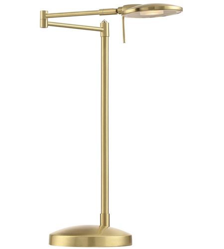 Arnsberg 525870108 Dessau Turbo 18 inch 10 watt Satin Brass Desk Lamp Portable Light alternative photo thumbnail