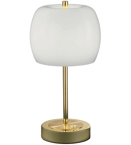 Arnsberg 528990503 Pear 13 Inch 5 Watt Polished Brass Table Lamp