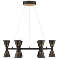 Arnsberg 120311232 Houston LED 24 inch Black and Gold Chandelier Ceiling Light