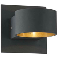 Lacapo 1 Light 6 inch Black-Matte Wall Sconce Wall Light