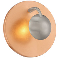 Aurora 3 Light Copper and Silver Wall Sconce Wall Light