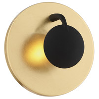 Arnsberg 223810279 Aurora 3 Light Gold and Black Wall Sconce Wall Light
