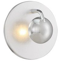 Aurora 3 Light Silver and Chrome Wall Sconce Wall Light