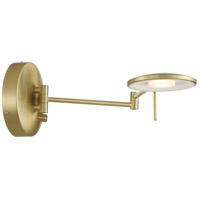 Arnsberg 225870108 Dessau Turbo 1 Light Satin Brass Swing Arm Wall Sconce Wall Light