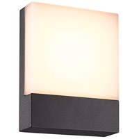 Pecos 1 Light 8 inch Dark Grey Outdoor Wall Light