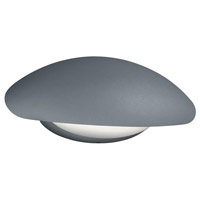 Missouri 1 Light 6 inch Titanium and Light Grey Outdoor Wall Light