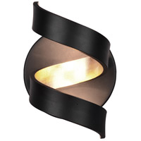 Arnsberg 229910202 Spiral 1 Light 7 inch Black and Gold Wall Sconce Wall Light