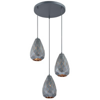 Arnsberg 300300335 Onyx 1 Light Museum Black Pendant Ceiling Light