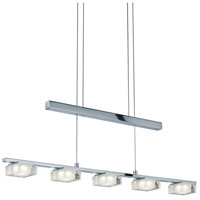 Arnsberg 323710506 Brooklyn 5 Light 32 inch Chrome Linear Pendant Ceiling Light