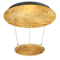 Arnsberg 323810179 Zenith 1 Light Gold and Black Pendant Ceiling Light