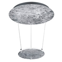 Arnsberg 323810189 Zenith 1 Light Silver and Chrome Pendant Ceiling Light