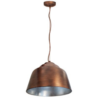 Palermo 3 Light 16 inch Copper Plated and Silver Pendant Ceiling Light