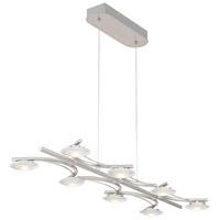 Arnsberg 378510807 Santiago 8 Light 34 inch Nickel-Matte Linear Pendant Ceiling Light