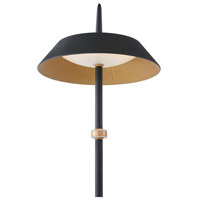 Arnsberg 425010132 Santa Monica 51 inch 10 watt Black and Gold Floor Lamp Portable Light alternative photo thumbnail