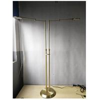 Arnsberg 425810208 Dessau Turbo 40 inch 10 watt Satin Brass Floor Lamp Portable Light