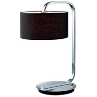 Arnsberg 500100106 Cannes 21 inch 100 watt Chrome Table Lamp Portable Light