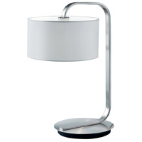 Arnsberg 500100107 Cannes 21 inch 100 watt Nickel-Matte Table Lamp Portable Light