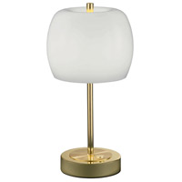 Pear 13 inch 5 watt Polished Brass Table Lamp Portable Light