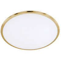 Arnsberg 625211008 Seattle 1 Light 12 inch Brass-Matte Flush Mount Ceiling Light