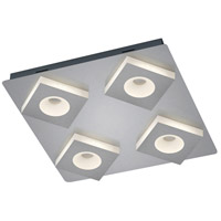 Arnsberg 675410407 Atlanta 4 Light 17 inch Nickel-Matte Flush Mount Ceiling Light