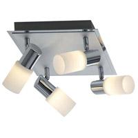 Arnsberg 821430405 Dallas Brushed Aluminum 4.5 watt 4 Light Adjustable Spot Light