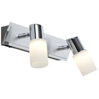 Dallas 2 Light 3 inch Brushed Aluminum Wall Sconce Wall Light