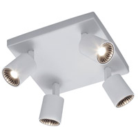 Arnsberg 829230401 Cayman White 4.5 watt 4 Light Adjustable Spot Light