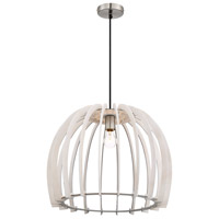 Arnsberg R30255027 Wood 1 Light 24 inch White Pendant Ceiling Light
