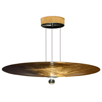 Arnsberg Z2001.6.51 Zeitlos LED 24 inch Gold Leaf with Black Pendant Ceiling Light Luce Elevata Wisdom