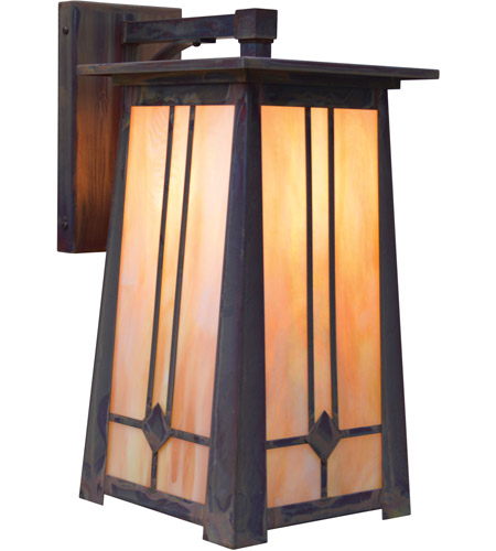 Mission Brown Aberdeen Outdoor Wall Lights
