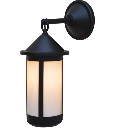 Satin Black Berkeley Outdoor Wall Lights