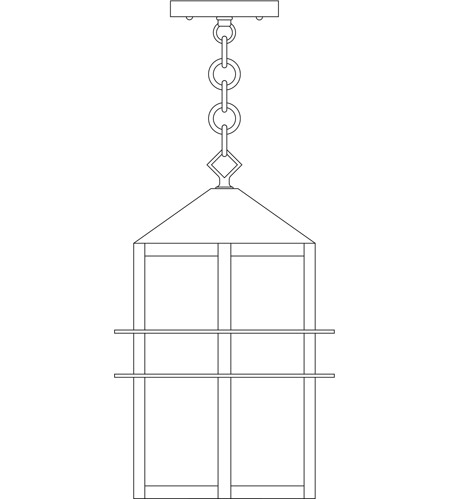 Arroyo Craftsman BEH-7CLR-MB Bexley 1 Light 5 inch Mission Brown Pendant Ceiling Light in Clear photo