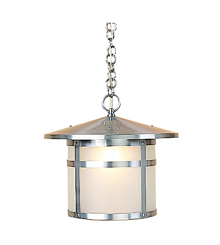 Arroyo Craftsman BH-14F-P Berkeley 1 Light 14 inch Pewter Pendant Ceiling Light in Frosted photo