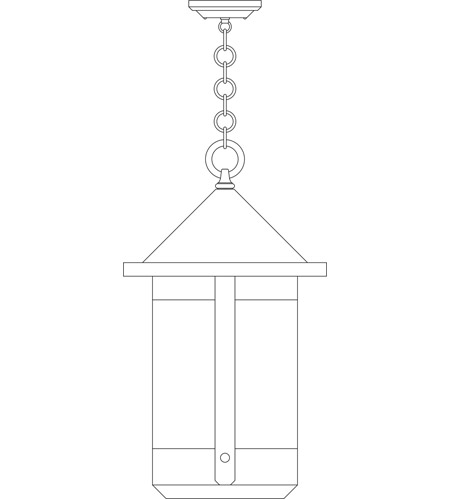 Arroyo Craftsman BH-14TLF-RC Berkeley 1 Light 14 inch Raw Copper Pendant Ceiling Light in Frosted photo