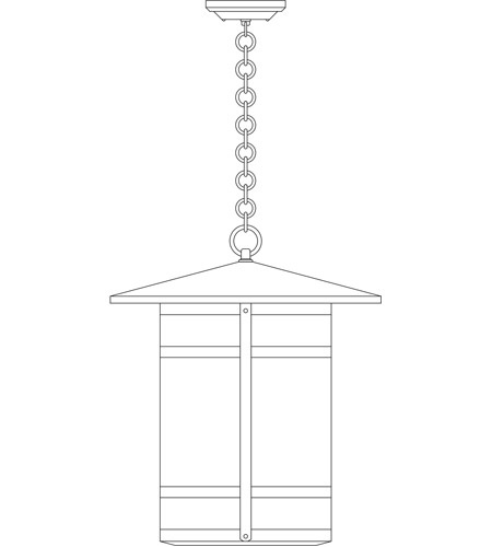 Arroyo Craftsman BH-17LF-P Berkeley 1 Light 17 inch Pewter Pendant Ceiling Light in Frosted photo