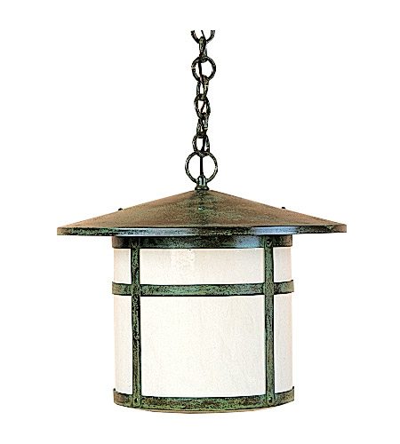 Arroyo Craftsman BH-17OF-VP Berkeley 1 Light 17 inch Verdigris Patina Pendant Ceiling Light in Off White photo