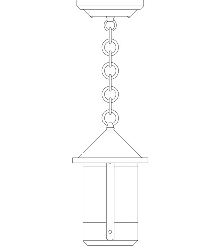 Arroyo Craftsman BH-6OF-P Berkeley 1 Light 6 inch Pewter Pendant Ceiling Light in Off White photo