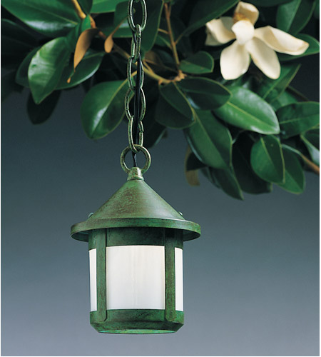 Arroyo Craftsman BH-6SWO-VP Berkeley 1 Light 6 inch Verdigris Patina Pendant Ceiling Light in White Opalescent alternative photo thumbnail