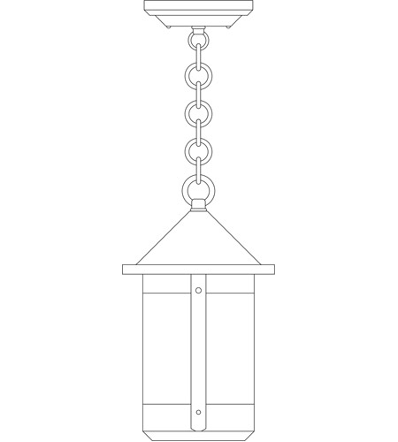 Arroyo Craftsman BH-7CS-P Berkeley 1 Light 7 inch Pewter Pendant Ceiling Light in Clear Seedy photo