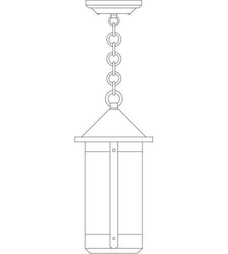 Arroyo Craftsman BH-7LAM-P Berkeley 1 Light 7 inch Pewter Pendant Ceiling Light in Almond Mica photo