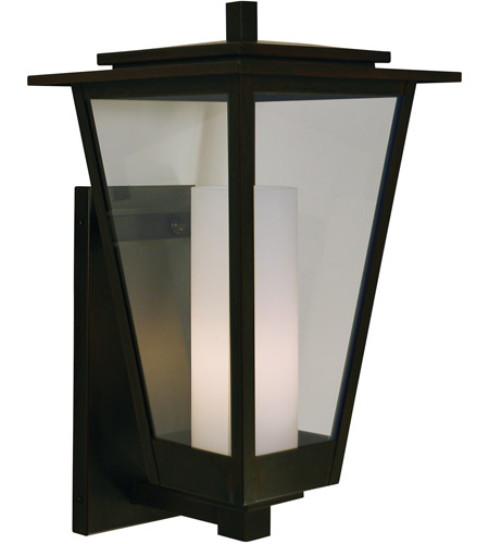 Arroyo Craftsman Brb 10clr Cs S Brighton 1 Light 18 Inch Slate Outdoor Wall Mount In Clear With Seedy Inner Cylinder