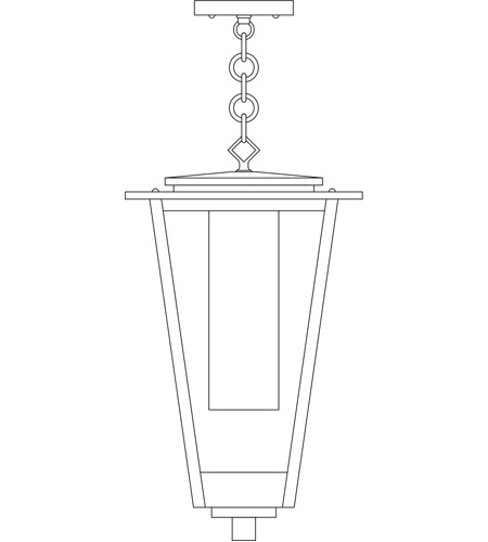 Arroyo Craftsman BRH-10CLR/CS-MB Brighton 1 Light 10 inch Mission Brown Pendant Ceiling Light in Clear with Clear Seedy Inner Cylinder photo